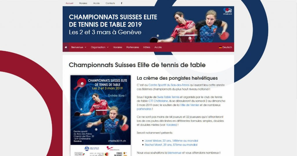 SIte web STT Elite 2019